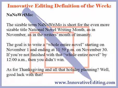 (The Start of) Everything a Creative Writer Needs to Know About NaNoWriMo