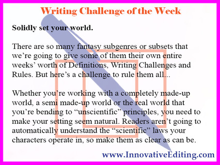 A Fantasy Fiction Writing Challenge to Rule Them All
