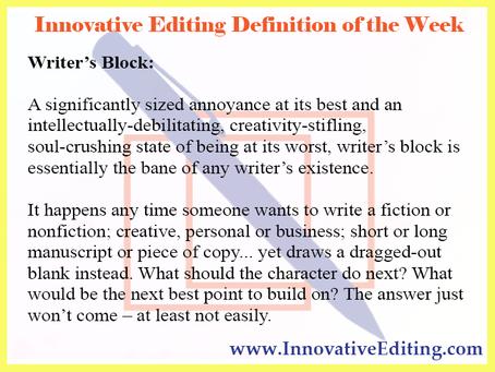 Ways to Get Past Writer's Block