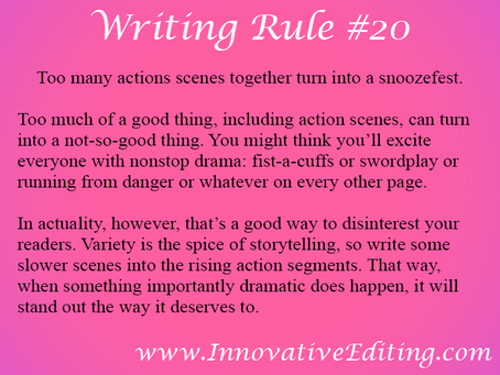 What You Don't Want to Write in Your Rising Action