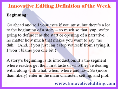 What Can We Say About Writing Story Beginnings?