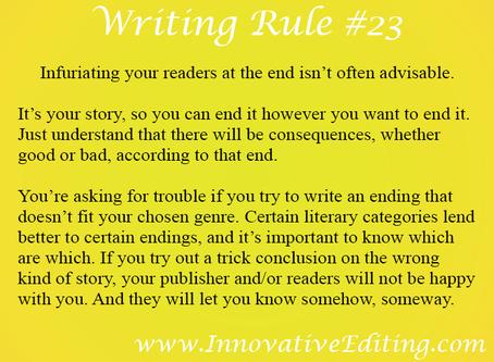 (Creative) Writing a Killer Ending