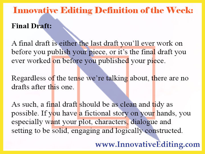 final draft definition