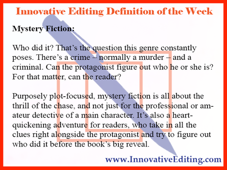 If You Want to Be a Mystery Fiction Writer…
