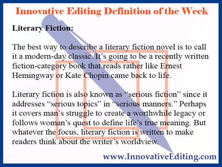 Literary Fiction: Light and Fluffy, This Fiction Genre Ain't