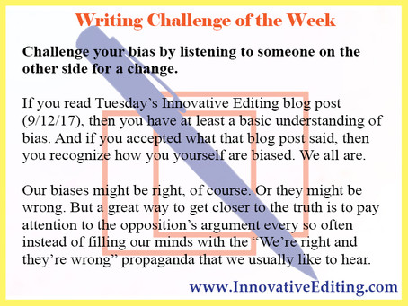 Genuine Writers and Authors Challenge Their Biases – Repeatedly