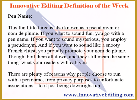 Why You Might Want a Pen Name
