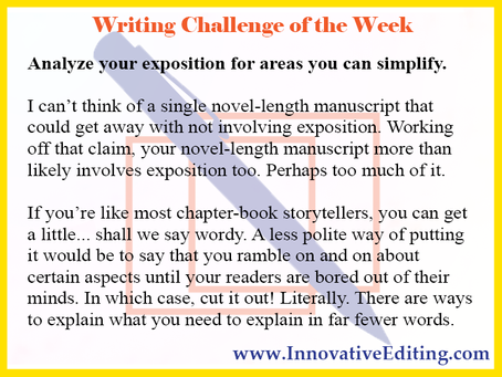 The Difference Between Writing Exposition and Editing Exposition
