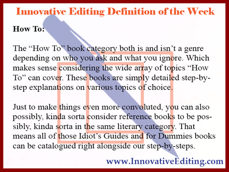 The Confusing Definition Side of Writing a How-To Book