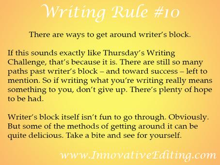 4 More Ways to Get Past Writer's Block