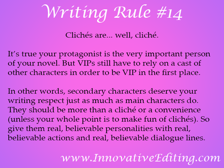 If You Don't Want to Write Cliché Secondary Characters…
