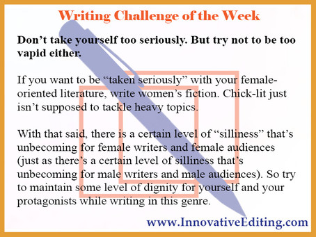 Bring on the Chick-Lit Writing Challenge