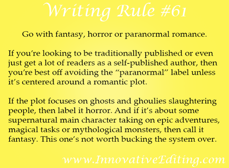 """When Writing """"Paranormal Fiction,"""" You'd Better Know How to Classify It"""