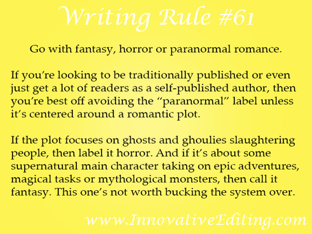 "When Writing ""Paranormal Fiction,"" You'd Better Know How to Classify It"