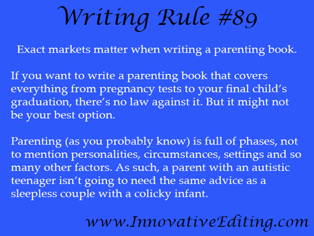 Pre-Writing Tip: Narrow Down Your Parenting Book Reach