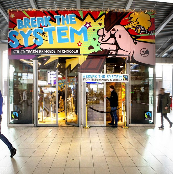 Break the system pop up store