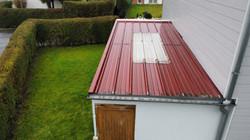 Réparation toiture bac acier garage Loison sous lens
