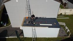 Réparation toiture bac acier garage Lens