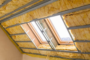 House thermal insulation with mineral wo