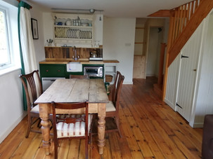 Open plan kichen diner holiday let