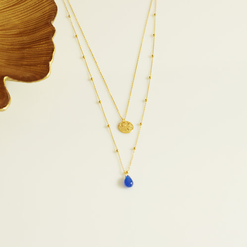 Collier Jeanne - Bleu