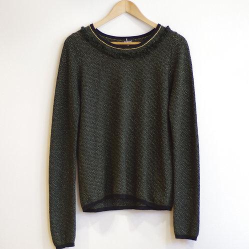 Pull vert & lurex  - Kookaï - T.1
