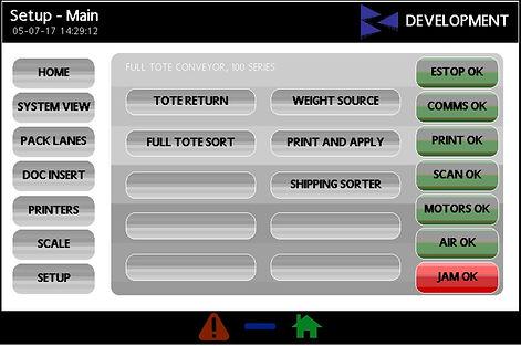 StreamTech Engineerng HMI Screen