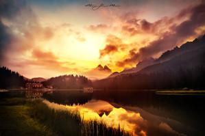 Lavaredo Lake photo by Mario Piercarlo Marino