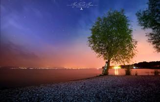 Garda Lake by night photo by Mario Piercarlo Marino