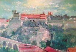 Andrew Vicari, oil painting, Monaco