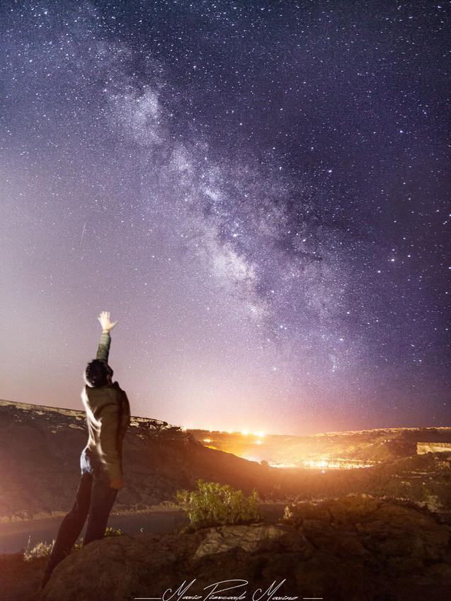 Mario Piercarlo Marino Milky way- Selfie photo by Mario Piercarlo Marino