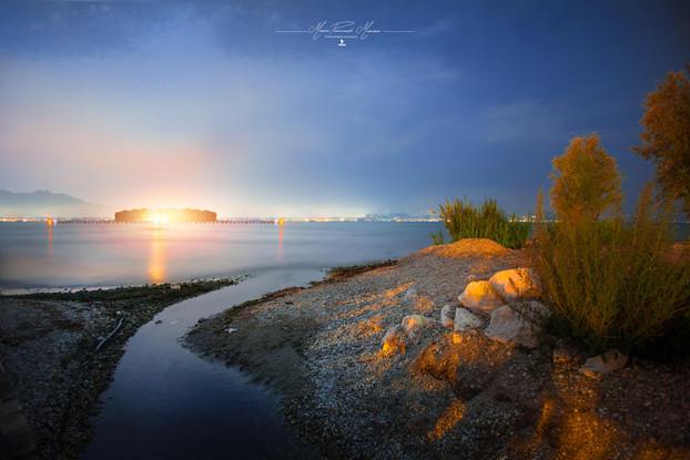 Garga Lake by night photo by Mario Piercarlo Marino