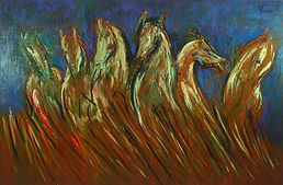 Andrew Vicari, horse painting, master