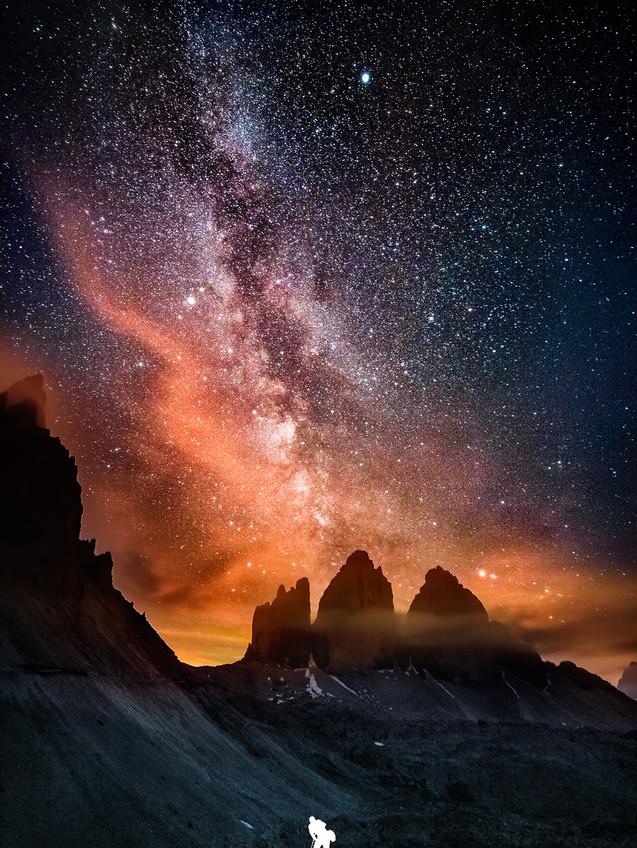 Milky way Lavaredo photo by Mario Piercarlo Marino