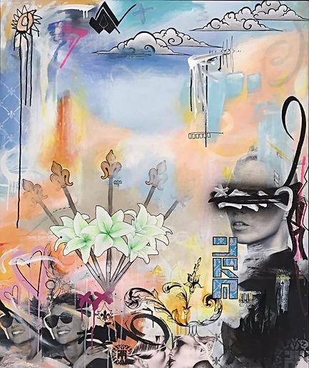 Acrylic and mixed media on canvas