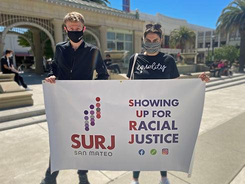 Large SURJ San Mateo Banner-Blurred Back