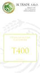 T400 - Polohrubá chlebová mouka