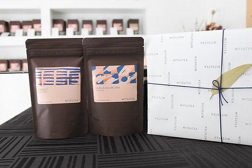 紅茶ギフト リーフ×2種(各50-100g入り)手提げ付き