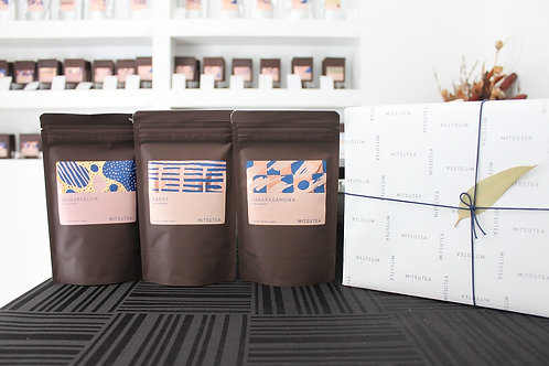 紅茶ギフト リーフティー×3種(各50-100g入り)手提げ付き