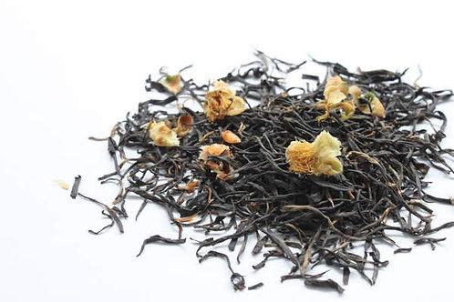 AMBA茶園 茶の花入り オーガニック紅茶 ハンドロールティーwithフラワーと、スムースチャイ(各16g)のセット