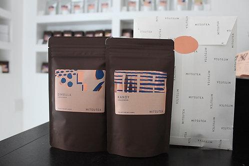 お友達に紅茶を贈ろう!ギフトラッピング付き 選べるリーフティーx2種(各50-100g )