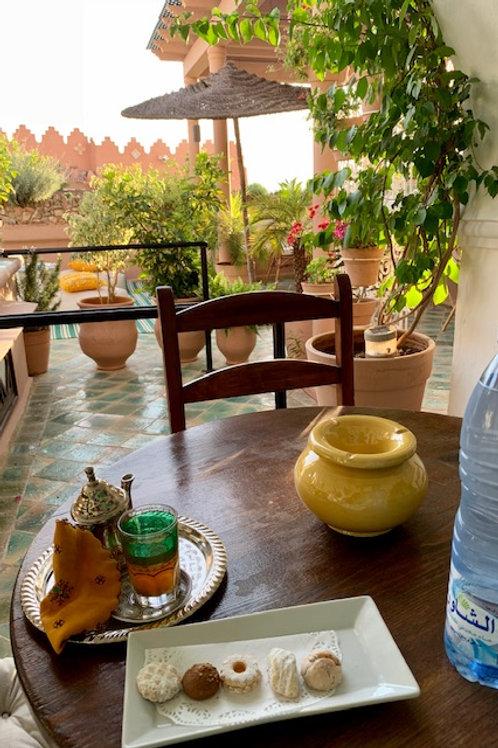 モロッコのティータイム 紅茶2種+モロッコ菓子3種のセット