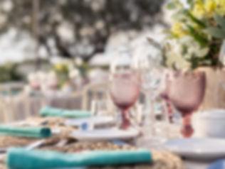 palacio detalle mesa copas