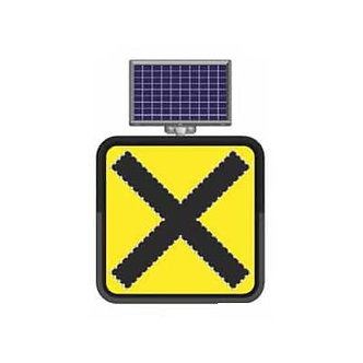 Uncontrolled Intersection  / Solar Powered Flashing LED Edge Lit