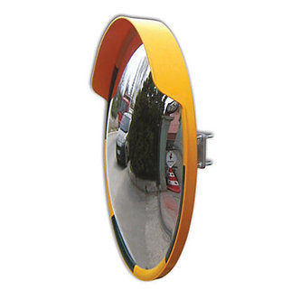 31.49″ ⌀ Acrylic Orange/Black Convex Mirror