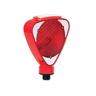 Red Bi-Directional Solar Powered LED Barricade Flasher