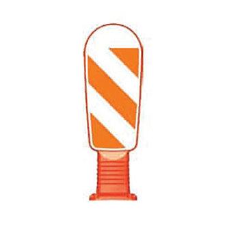 Caution Delineator Post