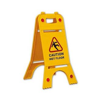 Bi-Directional Caution Floor Sign