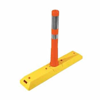 "30"" Traffic Lane Channelizers with Polyurethane Flixible Delineator Posts"