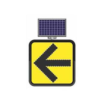 Left Turn  / Solar Powered Flashing LED Edge Lit